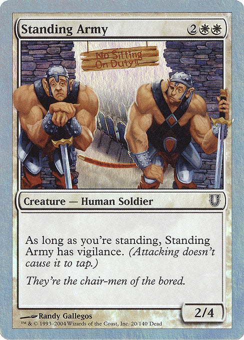 Standing Army Foil [Unhinged] | Game Theory