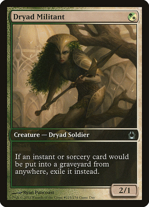 Dryad Militant [Return to Ravnica Promos] | Game Theory