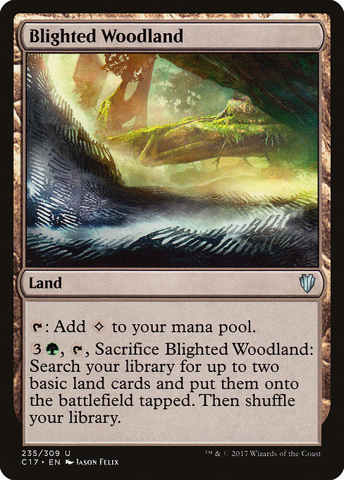 Blighted Woodland [Commander 2017] | Game Theory