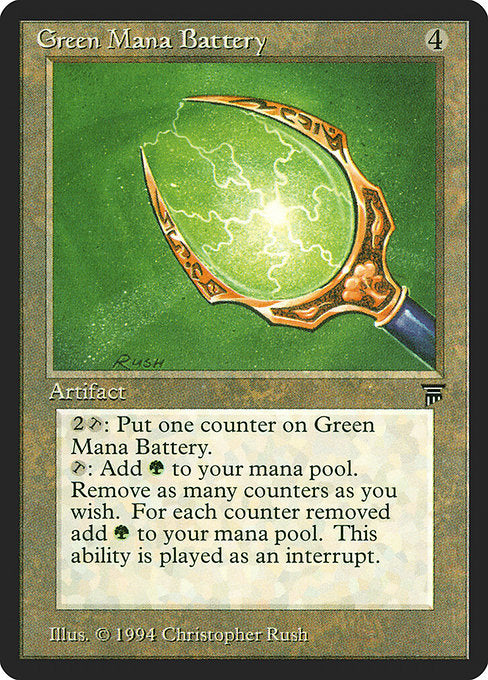 Green Mana Battery [Legends] | Game Theory