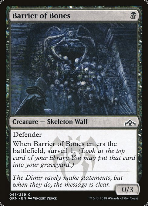Barrier of Bones [Guilds of Ravnica] | Game Theory
