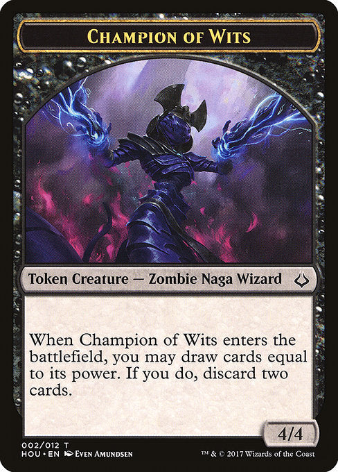 Champion of Wits Token [Hour of Devastation Tokens] | Game Theory