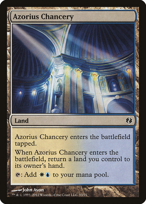 Azorius Chancery [Duel Decks: Venser vs. Koth] | Game Theory