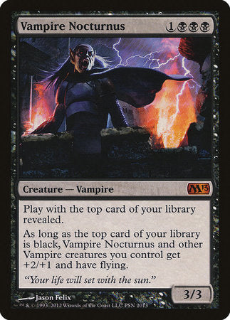 Vampire Nocturnus [Duels of the Planeswalkers Promos 2012] | Game Theory