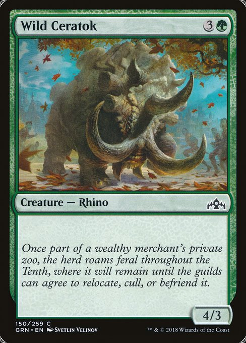 Wild Ceratok [Guilds of Ravnica] | Game Theory