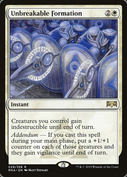 Unbreakable Formation [Ravnica Allegiance] | Game Theory