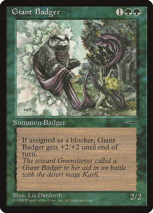 Giant Badger [HarperPrism Book Promos] | Game Theory