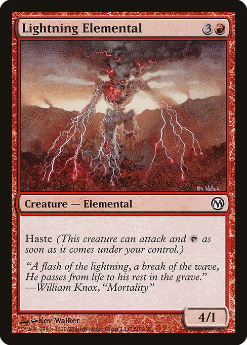 Lightning Elemental [Duels of the Planeswalkers] | Game Theory