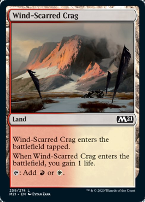 Wind-Scarred Crag [Core Set 2021] | Game Theory
