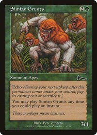 Simian Grunts [Urza's Legacy] | Game Theory