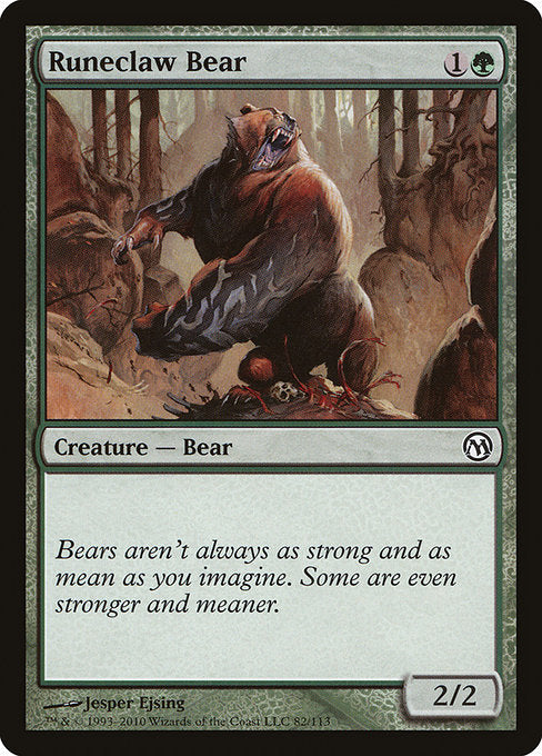 Runeclaw Bear [Duels of the Planeswalkers] | Game Theory