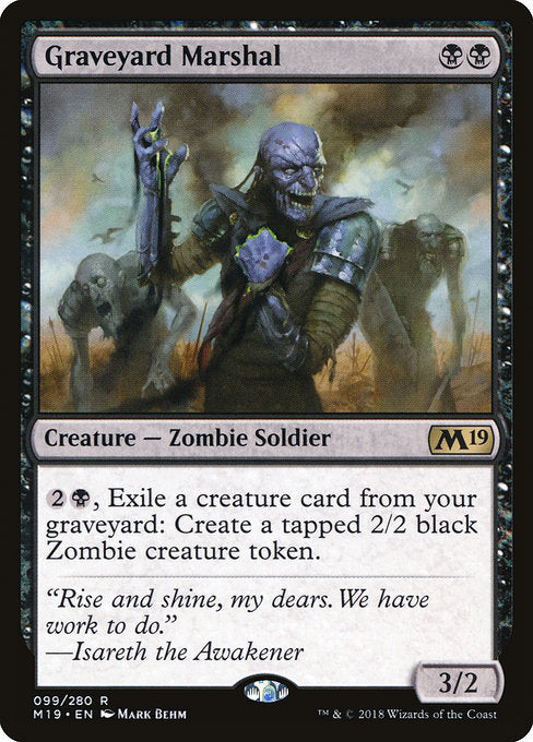 Graveyard Marshal [Core Set 2019] | Game Theory