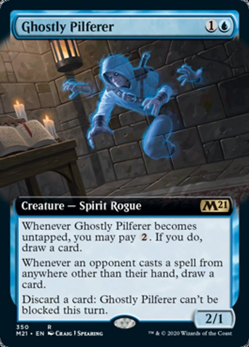 Ghostly Pilferer (Extended Art) [Core Set 2021] | Game Theory
