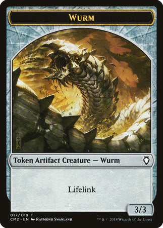 Wurm Token (Lifelink) [Commander Anthology Volume II Tokens] | Game Theory