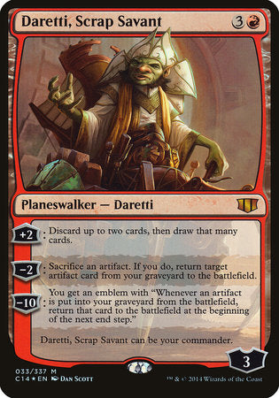 Daretti, Scrap Savant (Commander 2014) [Commander 2014 Oversized] | Game Theory