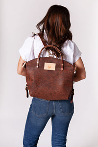 Birch Rust Leather Convertible Backpack 2.0