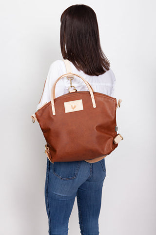 Charles Leather Convertible Backpack 2.0
