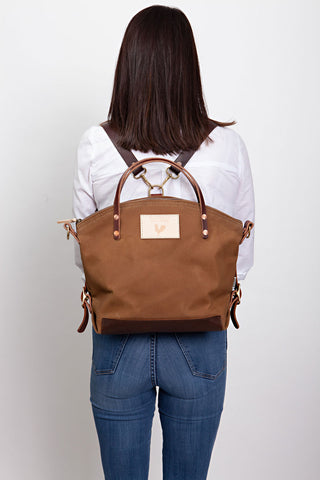 Field Tan Wax Canvas Backpack 2.0