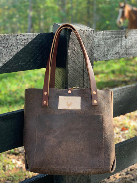Limited Edition Birch Mocha Leather Shoulder Bag