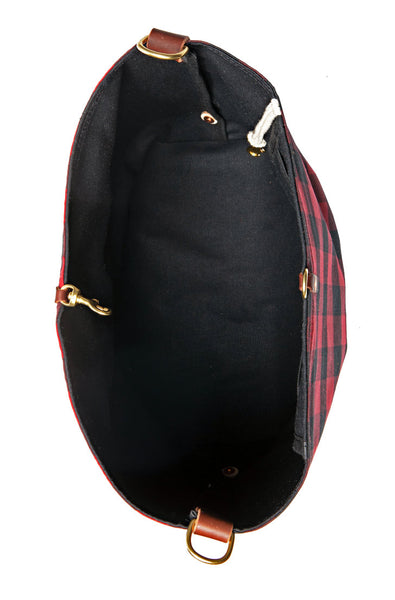 Buffalo Check Wax Canvas Hobo & Crossbody