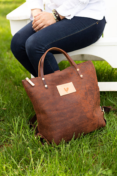 Birch Rust Leather Backpack
