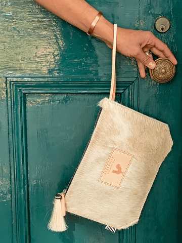 Limited Edition* Sand Hide Hair Wristlet