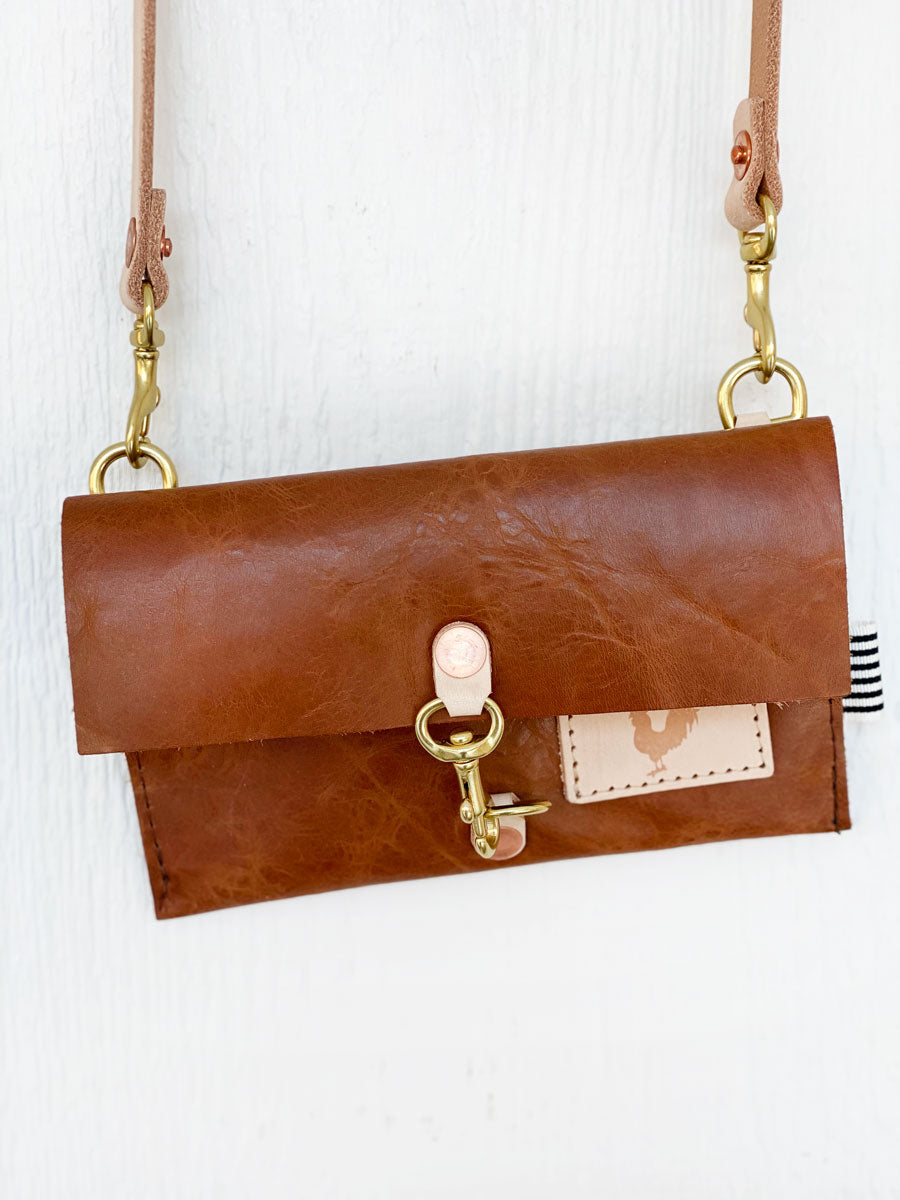 Limited Edition* Honey Leather Little Girls Crossbody