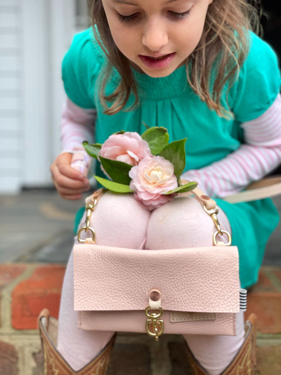 Limited Edition* Blush Leather Little Girls Crossbody