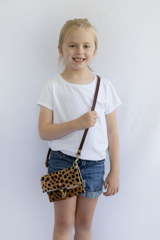 Little Girl's Cheetah Clutch & Crossbody