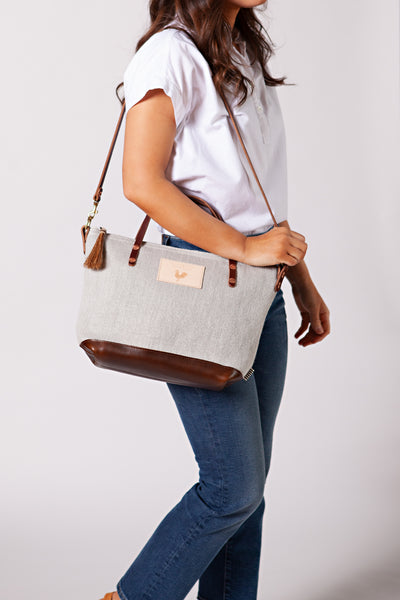 European Linen Handtote & Crossbody