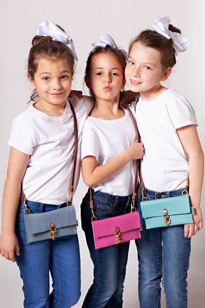 Little Girl's Blue Clutch & Crossbody
