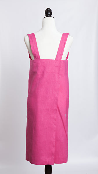 Molly Morris Designs Pink Apron with breast cancer logo