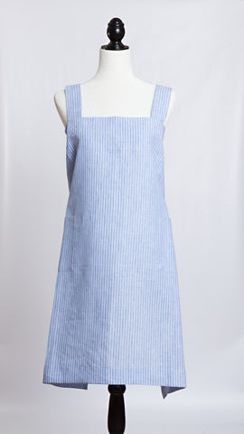 Molly Morris Designs Blue/White Stripe Apron