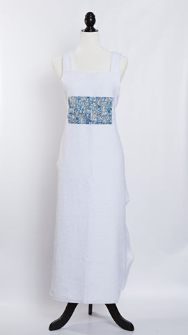 Molly Morris Designs Terry Cloth Apron with Liberty of London Blue Fabric
