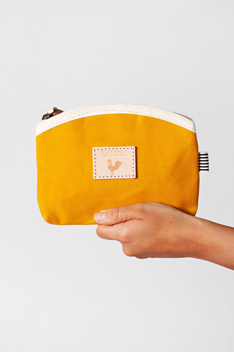 Rover Yellow Waxed Canvas Makeup Bag