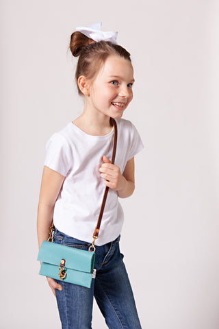 Little Girl's Seafoom Clutch & Crossbody