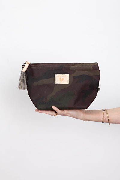 Camo Waxed Canvas Pouch