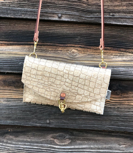 Limited Edition* Shimmer Sand Envelope Clutch and Crossbody