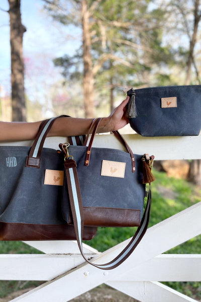 Limited Edition* Slate Blue Small Tote x Katie Kime