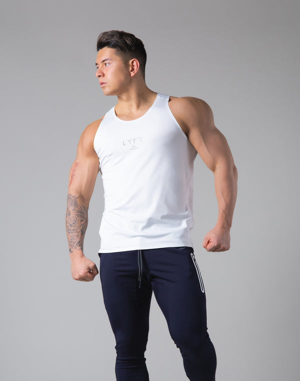 2Way Stretch Seamless Tanktop - White