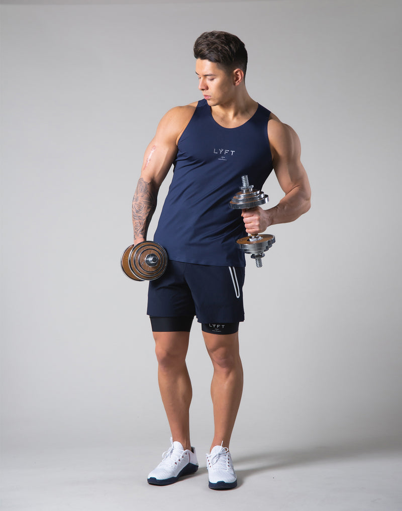 2Way Stretch Seamless Tanktop - Navy