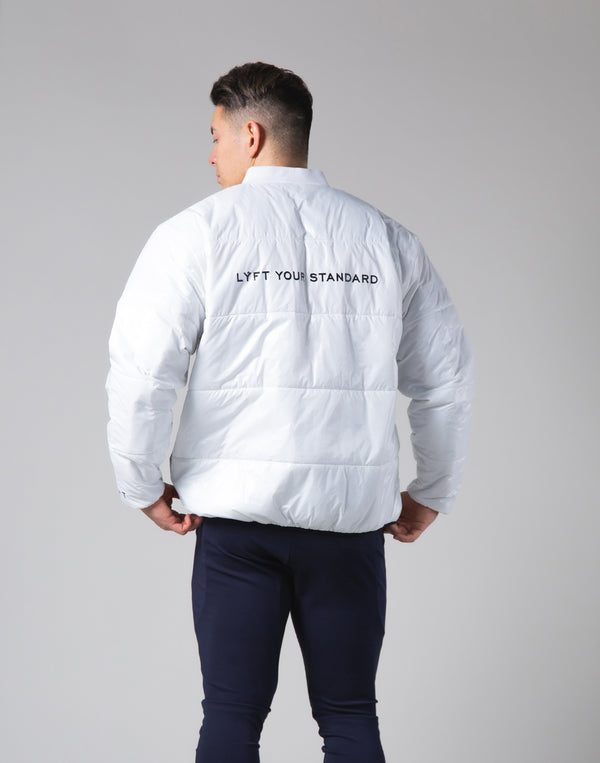 Light Weight Warm Nylon Jacket - White