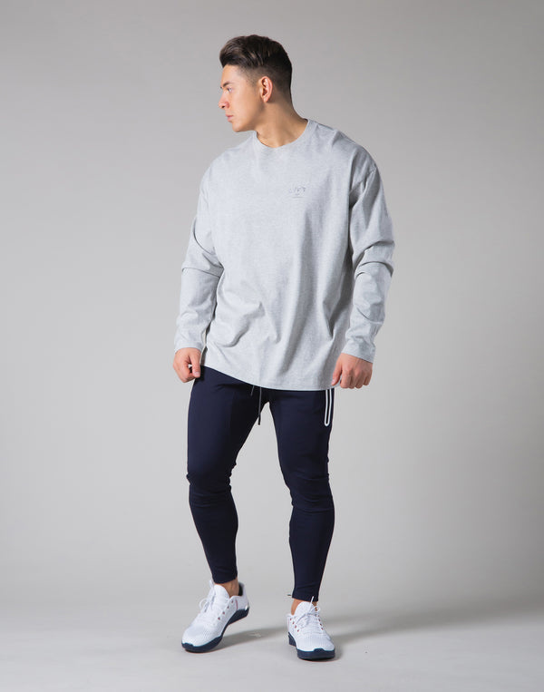 "LYFT Logo Long Sleeve T-Shirt ""Wide Body"" - Grey"
