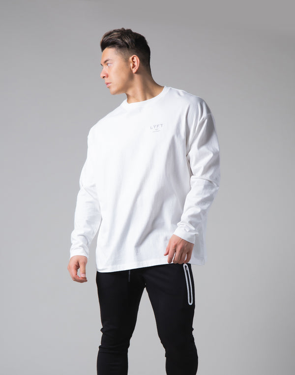 "LYFT Logo Long Sleeve T-Shirt ""Wide Body"" - White"