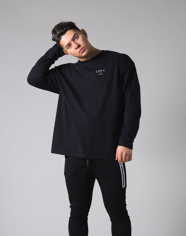 "LYFT Logo Long Sleeve T-Shirt ""Wide Body"" - Black"
