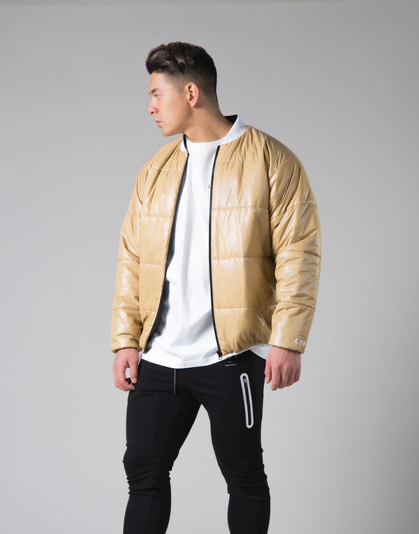 Light Weight Warm Nylon Jacket - Beige
