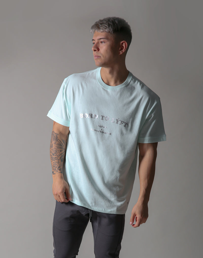 BORN TO LÝFT Big T-SHIRT - Mint Green