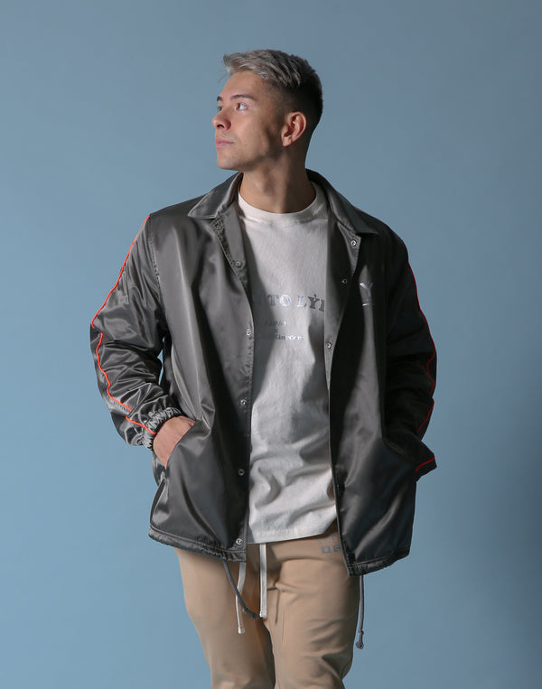 Born to LÝFT COACH JACKET - Grey - Orange Line