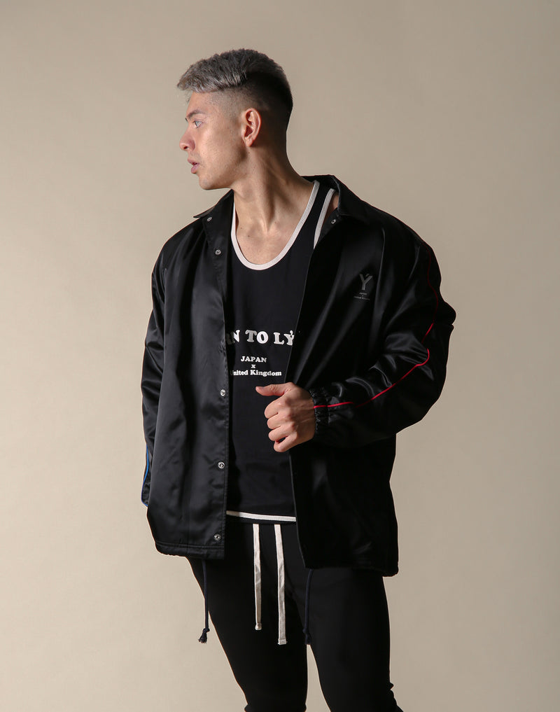 Born to LÝFT COACH JACKET - BLACK - Blue / Red Line