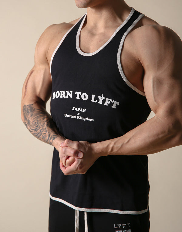 BORN TO LÝFT Loose Tanktop - Black
